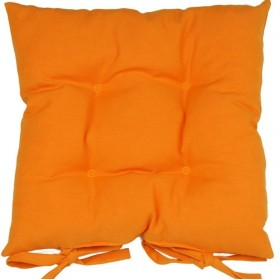 Однотонная подушка на стул