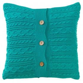 Вязаный чехол для подушки