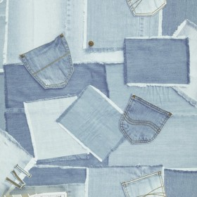 1С Elements / 41 Patchwork Cowboy 37-Denim обои