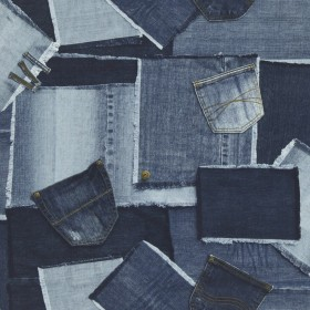 1С Elements / 42 Patchwork Cowboy 38-Jeans обои