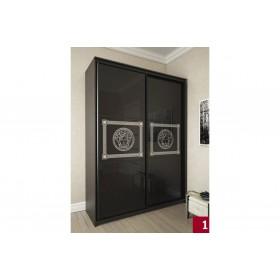 Мэри Премиум Шкаф 2-дверный, 1800, двери №11, дуб венге/стекло лакобель с печатью