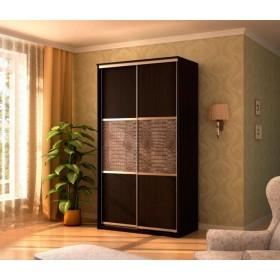Мэри Де-Люкс Шкаф 2-дверный, 1000, двери №2, дуб венге/двери № 2