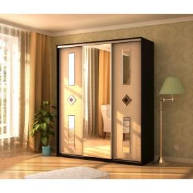 Мэри Де-Люкс Шкаф 3-дверный, 1500, двери №8, дуб венге/двери № 8