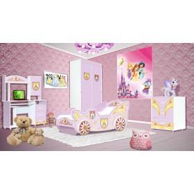 Принцесса Детская, розовый/белый