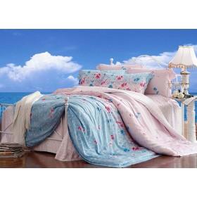 Комплект постельного белья 100% Tencel набивной 2 сп. (наволочки 52х74)