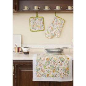 Кухонный набор (прихватка-20х20, варежка-прихватка-18х33, полотенце 38х64-1 шт.)