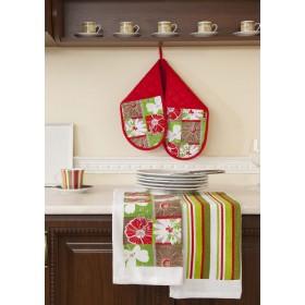 Кухонный набор (двойная прихватка-18х80, полотенце 38х64-2 шт.)