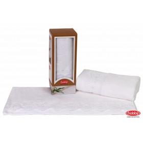 Махровое полотенце в коробке 50x90