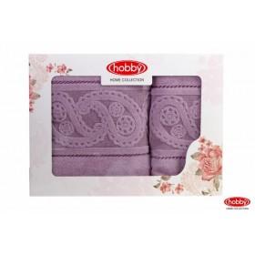 Махровое полотенце в коробке 50x90+70x140