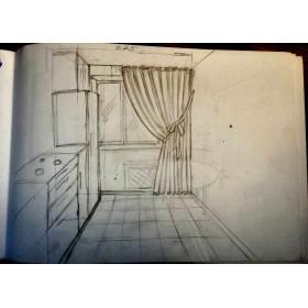 Комплект штор на кухню