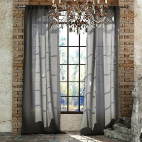 Однотонная штора