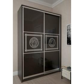 Мэри Премиум Шкаф 2-дверный, 1600, двери №13, дуб венге/стекло лакобель с печатью