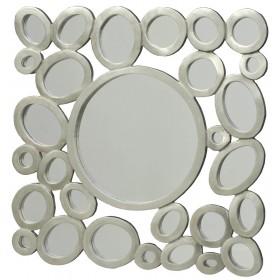 Кольца с зеркалами квадрат
