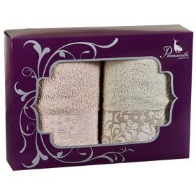 Набор из 2-х полотенец Eva 50х90+50х90 в подарочной упаковке